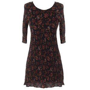 Forever 21 black paisley floral dress